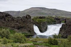 Hjalparfoss in Islanda del sud, Europa fotografia stock libera da diritti