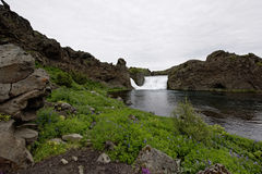 Hjalparfoss in Süd-Island, Europa Lizenzfreies Stockbild