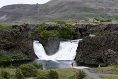 Hjalparfoss in South Iceland, Europe Royalty Free Stock Photo