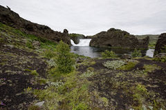 Hjalparfoss in South Iceland, Europe Royalty Free Stock Photography