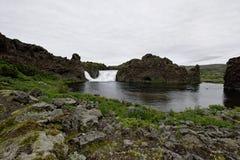 Hjalparfoss w Południowym Iceland, Europa zdjęcia stock