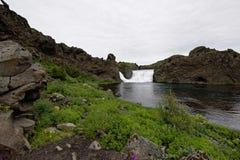 Hjalparfoss w Południowym Iceland, Europa Obraz Royalty Free