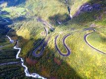 Hjelledalen Windy Road Norway images libres de droits