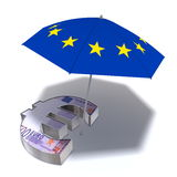 Hjälpmedelpacke för euroen Royaltyfria Foton