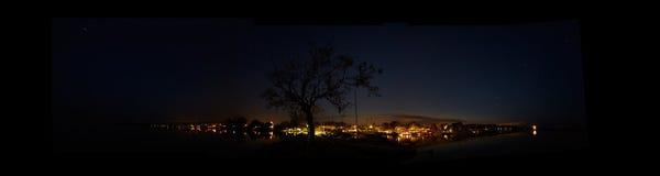 Hjo vid natt Arkivbilder