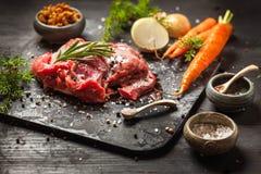 Hjort- eller rådjursköttstek Royaltyfri Fotografi
