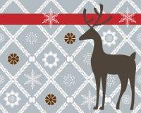 Hjortar över nätt bakgrund royaltyfri illustrationer