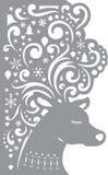 Hjortar för halloween för kort dekorativ vektor för pumpa illustration Bitande mall för laser Arkivfoton