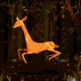 Hjortar för löst djur i djungelskogbakgrund Royaltyfri Bild