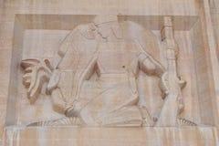 Hjortar Hunter Bas-Relief arkivbild