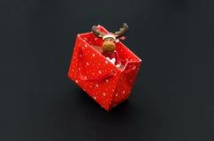Hjortar i gåvapacke Arkivfoto