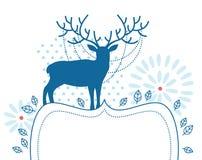 Hjortar med ramen royaltyfri illustrationer