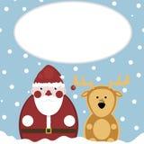 hjortar santa snow nytt år Royaltyfri Illustrationer