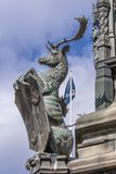 Hjortinnehavsköld på Walter Montagu Douglas Scott, Edinburg S Royaltyfri Fotografi