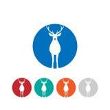 Hjortlogo royaltyfri illustrationer