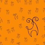 Hjortmodell royaltyfri illustrationer