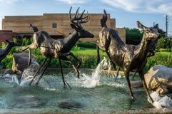 Hjortskulpturer royaltyfri fotografi