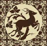 hjortträn royaltyfri illustrationer