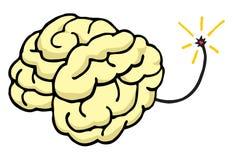 Hjärna omkring som exploderar slaget din mening Royaltyfri Foto