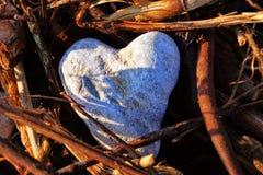 Hjärta av stenen Arkivbild