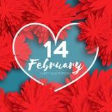 Hjärta Blommapapper lycklig s valentin för dag Arkivfoton