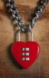 Hjärta-format lås Royaltyfri Fotografi