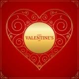 Hjärta för dag för valentin` s förälskelsesymbol, tecken eller logo Arkivfoto