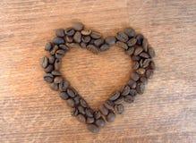 hjärta för kaffekopp Royaltyfri Foto