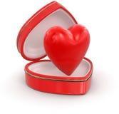 Hjärta i hjärtaask Arkivbilder