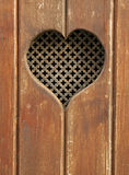 Hjärta i trä Royaltyfri Bild