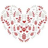 Hjärta med folk motiv Arkivfoto