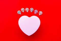 Hjärta och fred Fotografering för Bildbyråer