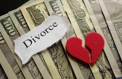 Hjärta och skilsmässa Arkivfoto