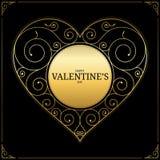 Hjärta på röd bakgrund förälskelsesymbol, tecken eller logo Royaltyfri Bild