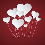 Hjärtaballong Arkivfoto