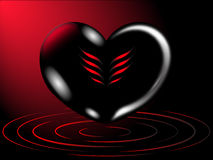 Hjärtaromantikerbakgrund Royaltyfri Fotografi