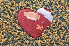 Hjärtsjukdom och bot Arkivfoto