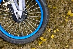 Hjul av barncykeln Arkivfoton