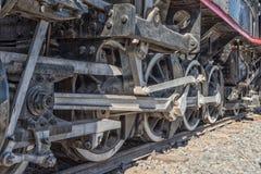 Hjul av en ångamotor för grupp CRB i Ashton Arkivfoto