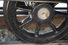 Hjul av en kugghjulstånglokomotiv Arkivfoton