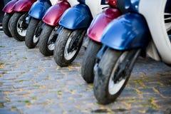 Hjul av mopeds Royaltyfri Fotografi