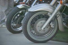Hjul av motorcykeln Fotografering för Bildbyråer