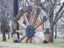 Hjul för ångafartygvagn arkivbild