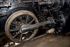 Hjul för ångalokomotiv Arkivfoton