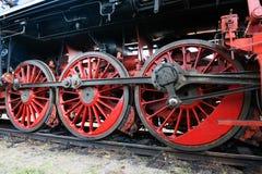 Hjul för ångalokomotiv Arkivbilder