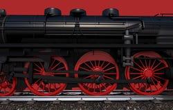 Hjul för ångalokomotiv Royaltyfria Bilder
