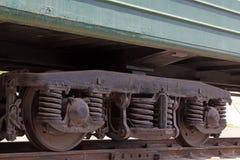 Hjul för ångalokomotiv och den fuktande apparaten Royaltyfri Bild