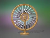 Hjul för Bhaskara ` s Maskin för evig rörelse mobil perpetuum fysik stock illustrationer