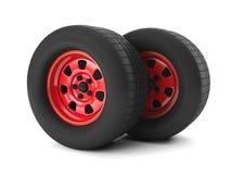 Hjul för bilreparationsbil Arkivfoton