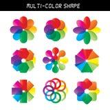 Hjul för färgblommavektor Arkivfoto